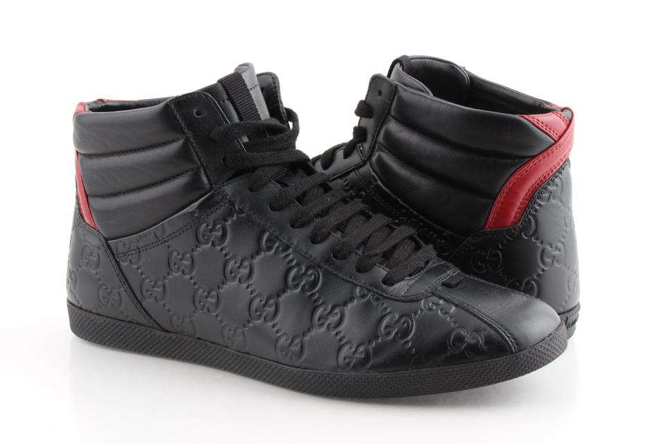 f131d349240 Gucci Black Signature High-top Sneakers Shoes Image 0 ...