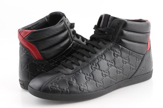 Gucci Black Signature High-top Sneakers Shoes Image 1