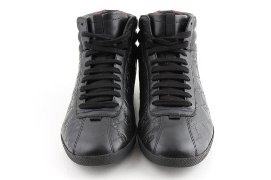 Gucci Black Signature High-top Sneakers Shoes Image 2