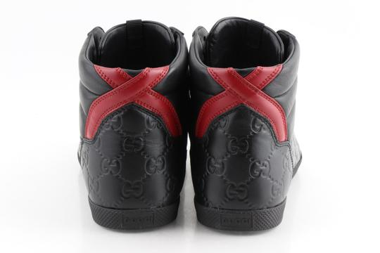 Gucci Black Signature High-top Sneakers Shoes Image 3