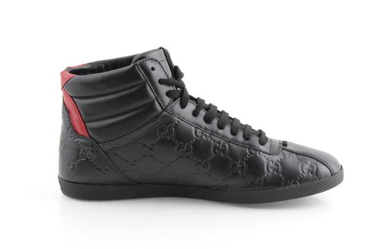 Gucci Black Signature High-top Sneakers Shoes Image 4