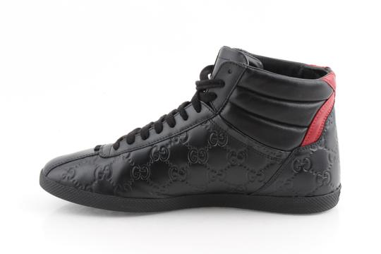 Gucci Black Signature High-top Sneakers Shoes Image 5