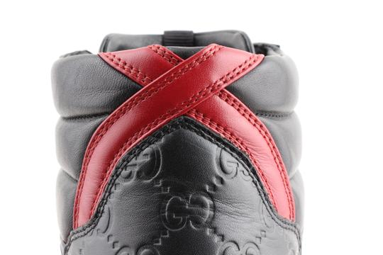 Gucci Black Signature High-top Sneakers Shoes Image 6