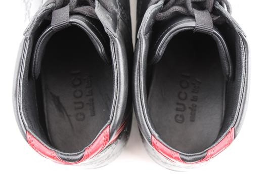 Gucci Black Signature High-top Sneakers Shoes Image 7