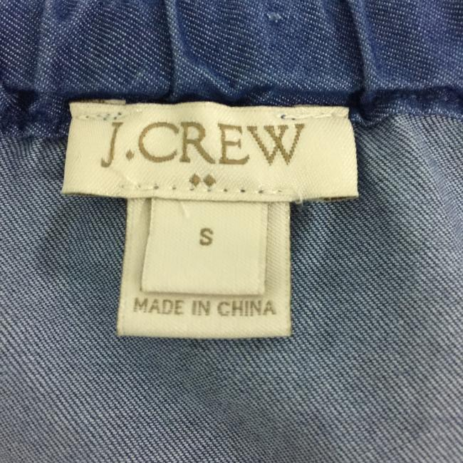J.Crew Chambray Off The Shoulder Drawstring Top Blue Image 4