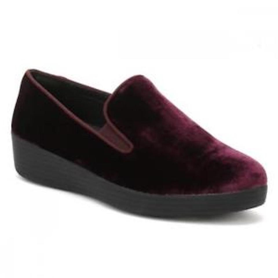 149f9419fa03 FitFlop Velvet Plum Superskate Flats Size US 6.5 Regular (M