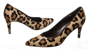 Stuart Weitzman Leopard Print Black, Tan Brown Pumps
