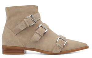 Nine West Pointed Toe Ankle Suede Taupe Boots