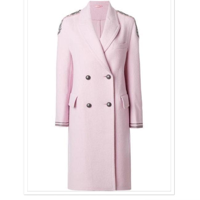 Preload https://img-static.tradesy.com/item/25018779/ermanno-scervino-pink-shoulder-applique-coat-size-8-m-0-0-650-650.jpg