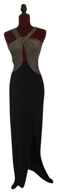 Preload https://img-static.tradesy.com/item/25018799/betsy-and-adam-black-and-white-top-and-solid-black-bottom-sexy-criss-cross-spandex-gown-long-formal-0-1-650-650.jpg
