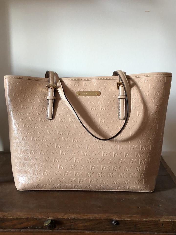 861e4902b6c76 Michael Kors Jet Set Carryall Small Oyster Patent Leather Tote - Tradesy