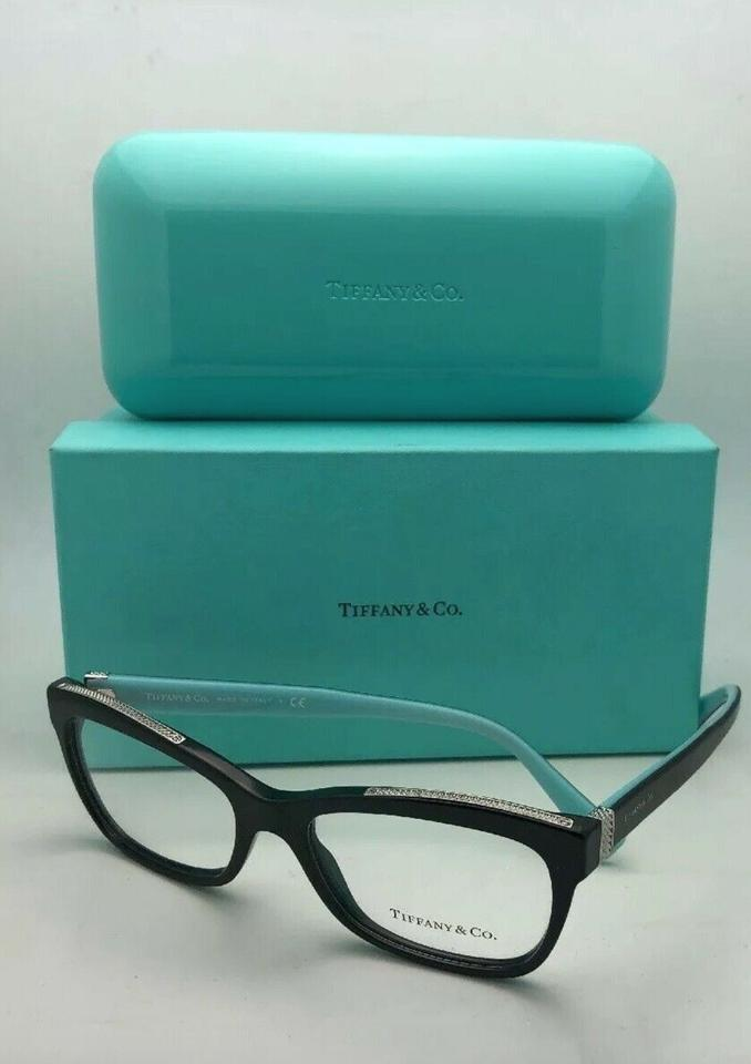 cacd3a301dbe Tiffany & Co. New Tf 2167 8001 54-17 140 Black Blue and Silver Frame ...