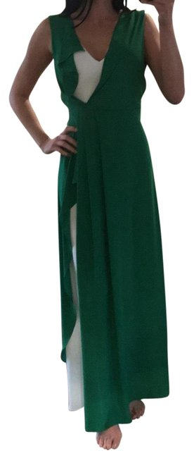 Item - Green and White Bcbgmaximara Long Cocktail Dress Size 2 (XS)
