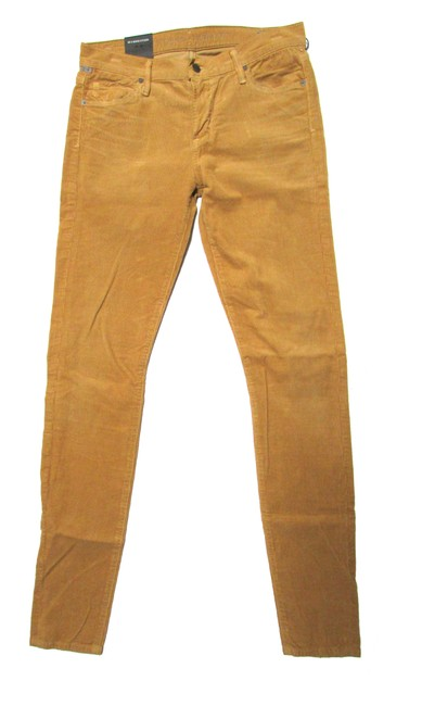 Item - Mustard Coated Avedon Low Rise Skinny Jeans Size 29 (6, M)