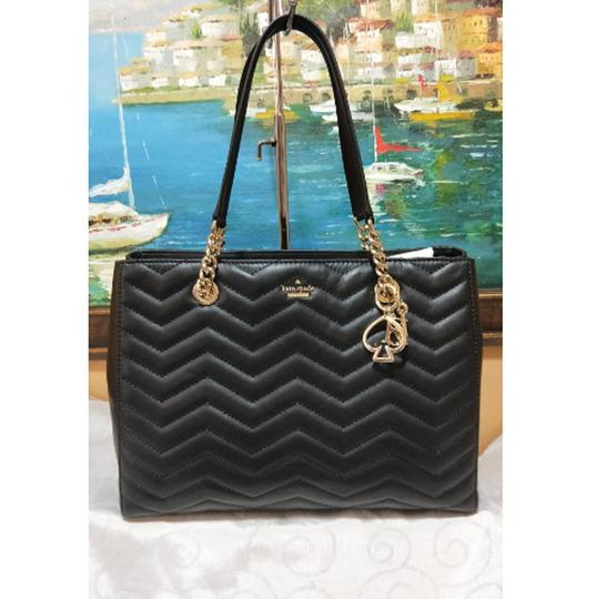 Kate Spade Reese Park Small Courtnee Quilted Leather Chevron Leather Pxru9349 Shoulder Bag Image 9