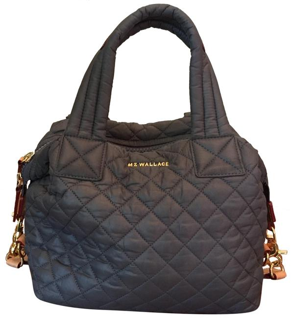 Item - Sutton Small Gray Quilted Nylon Satchel