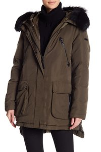 10 Crosby Derek Lam Quilted Down Hooded Fur Puffer Coat