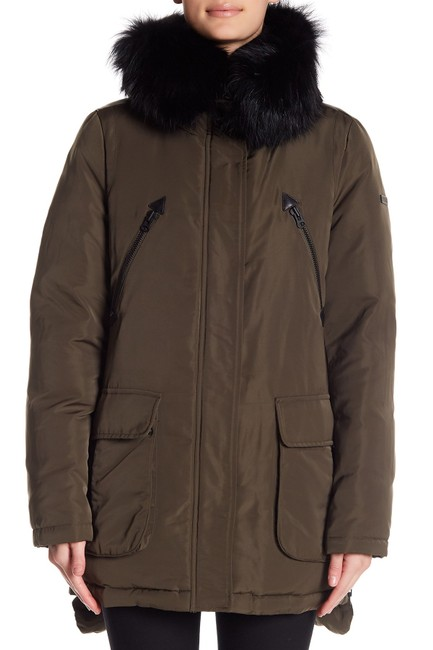 10 Crosby Derek Lam Quilted Down Hooded Fur Puffer Coat Image 1