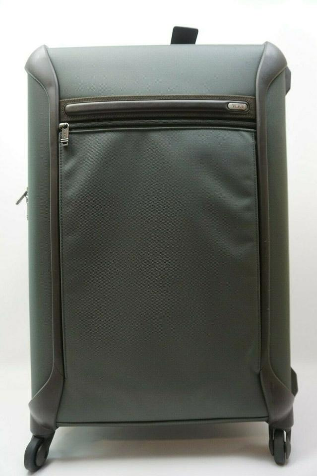 Tumi Alpha 2 Lightweight Trip 4 Wheel Ng Case Luggage 28527gybop Green Nylon Weekend Travel Bag