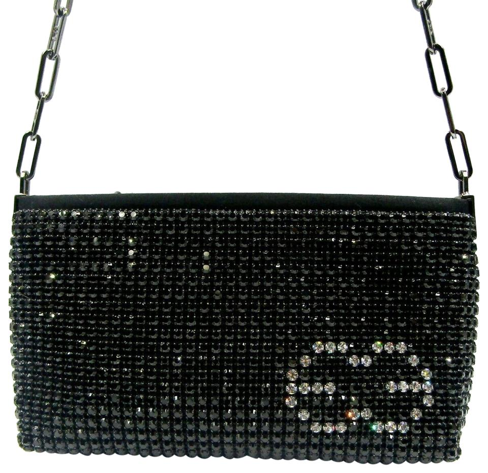 Escada Clutch Vintage Crystal Incrusted Purse Black Swarovski Shoulder Bag 65 Off Retail