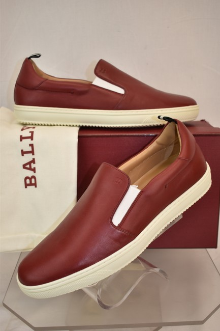 Bally Red Orniel Leather Low Top Logo Slip On Sneakers 11 Us 44 Shoes Bally Red Orniel Leather Low Top Logo Slip On Sneakers 11 Us 44 Shoes Image 1