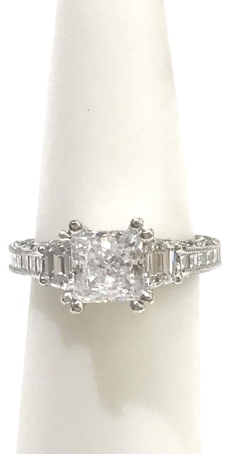 Tacori Never Worn Platinum and Diamond Ring Tacori Never Worn Platinum and Diamond Ring Image 1