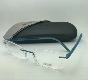 Silhouettes New SILHOUETTE Rimless Eyeglasses 4406 40 6056 5379 53-17 Blue Green