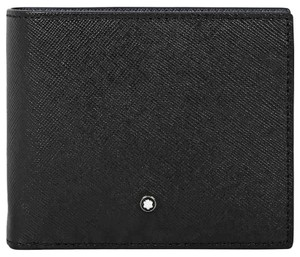 Montblanc Sartorial Full Grain Leather 6cc 2 Compartments Men's Wallet