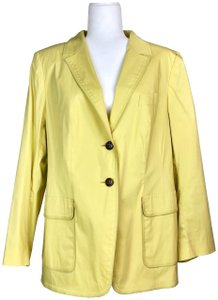 Escada Cotton Mustard Yellow Blazer
