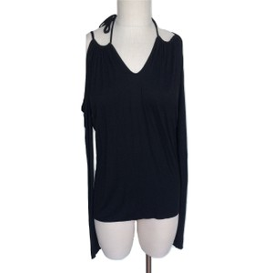 People's Liberation Drape Sleeveless Cold Shoulder Stretchy Tie Tunic