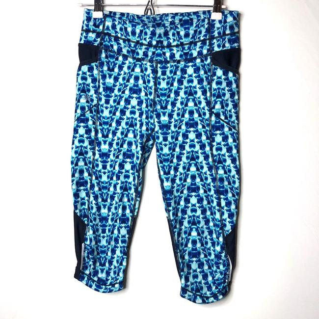 Item - Blue Leggings with Thigh Pockets Activewear Bottoms Size 4 (S)