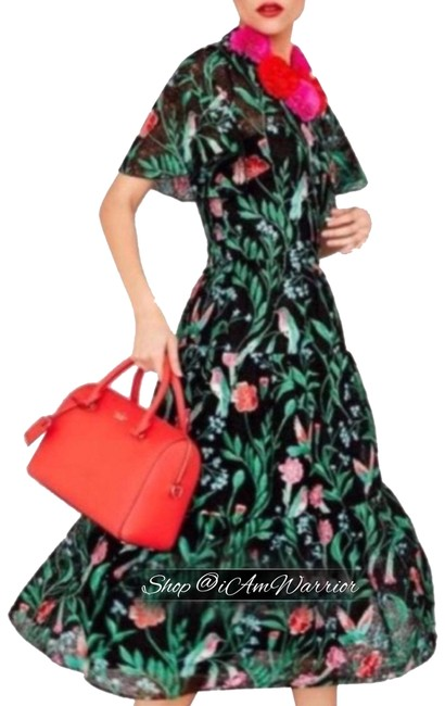 Preload https://img-static.tradesy.com/item/25020201/kate-spade-black-red-pink-green-embroidered-hummingbird-fit-and-lace-mid-length-cocktail-dress-size-0-13-650-650.jpg