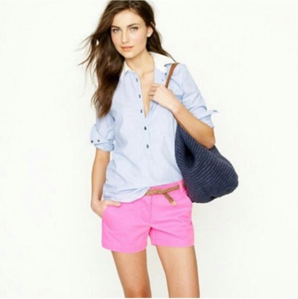 79b8945d92f J.Crew Pink Broken-in Chino 68925 Shorts Size 2 (XS