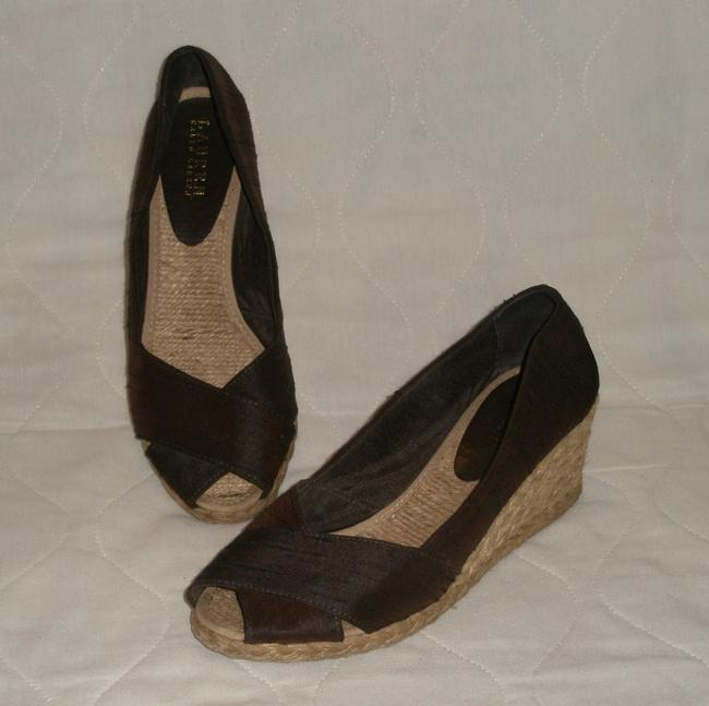 Ralph Lauren Brown Cecilia Espardille M 9 1/2 M Wedges Size US 9.5 Regular (M, B) Ralph Lauren Brown Cecilia Espardille M 9 1/2 M Wedges Size US 9.5 Regular (M, B) Image 1