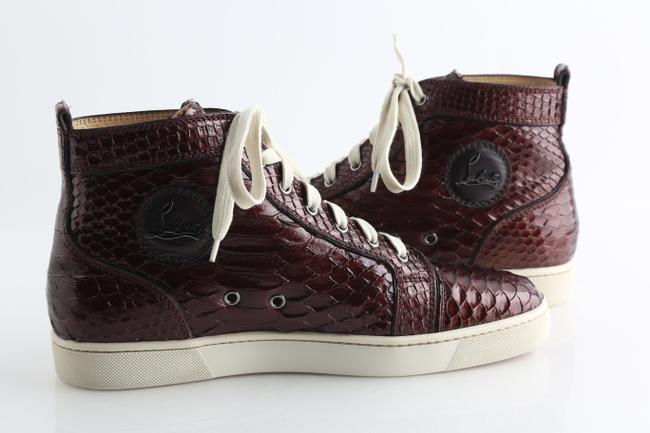 Item - Red Louis Python Crystal Lame Men Sneakers Shoes