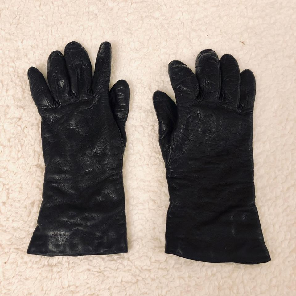 d12a983d4c57 Bloomingdale s Black Cashmere Lined Leather Gloves - Tradesy
