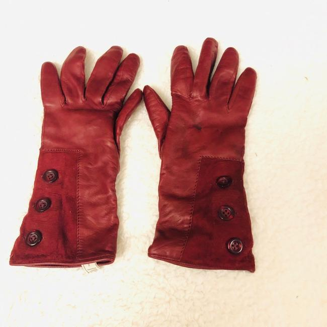 Red Italian Leather Gloves Red Italian Leather Gloves Image 1