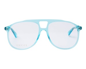 656bf8d3e6f8 Gucci NEW Gucci 0264O Blue Aviator Eyeglasses Frames