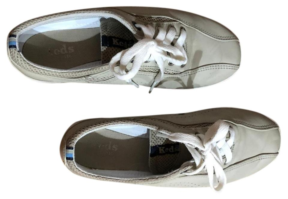 06a90d6659001 Keds Light Gray Triple Kick Leather Sneakers Size US 6.5 Regular (M ...