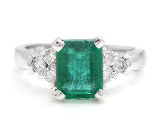 Preload https://img-static.tradesy.com/item/25020710/white-gold-290ct-natural-emerald-and-diamond-14k-solid-ring-0-0-540-540.jpg