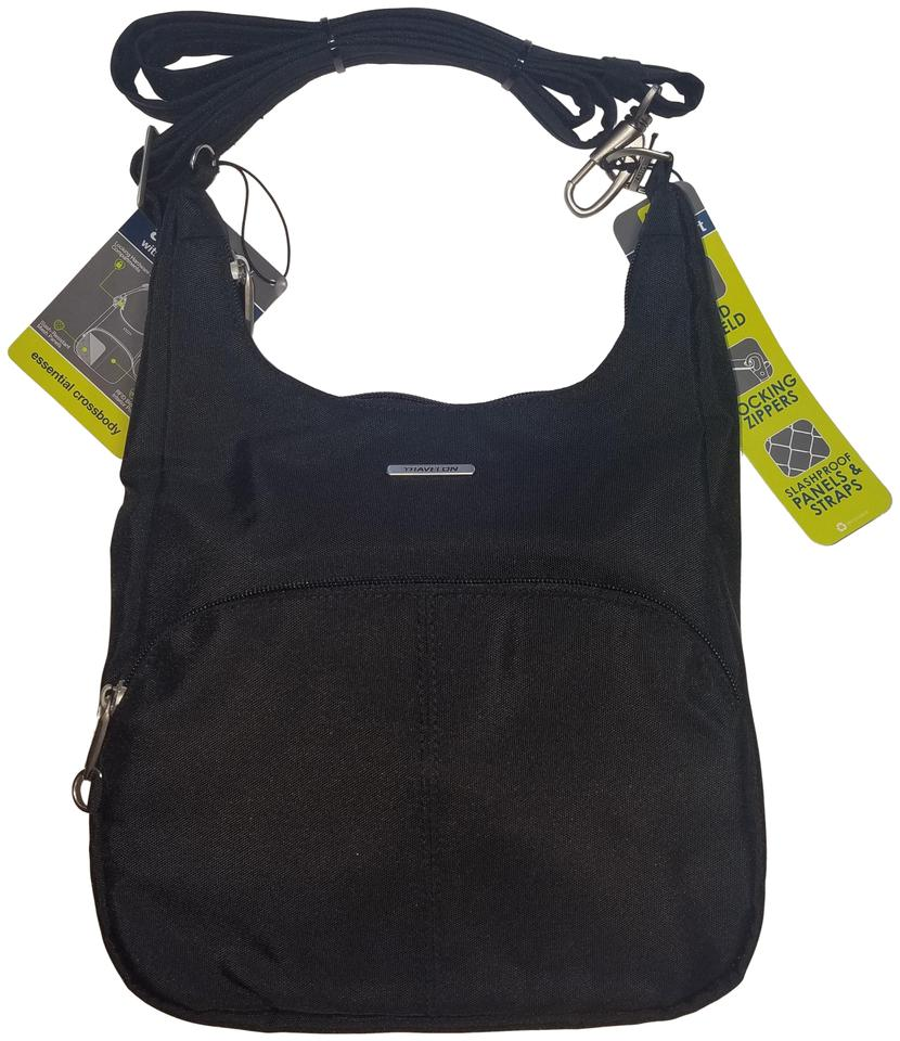 6eccffd70 Travelon Messenger Essential Anti-theft Classic Black Nylon Canvas ...