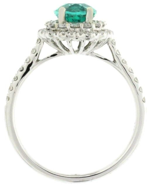 Unbranded White Gold African Emerald & Diamond 18k Engagement Ring Unbranded White Gold African Emerald & Diamond 18k Engagement Ring Image 1