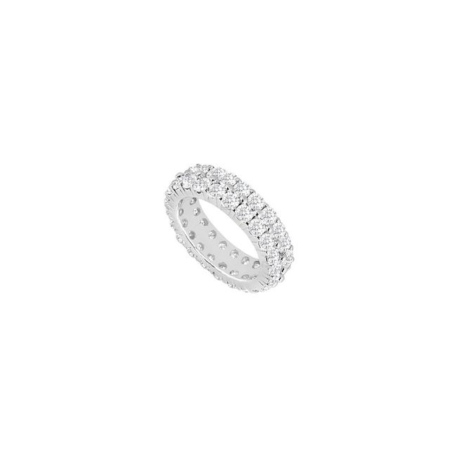 White Gold Double Row Diamond Eternity For Wedding Ring White Gold Double Row Diamond Eternity For Wedding Ring Image 1