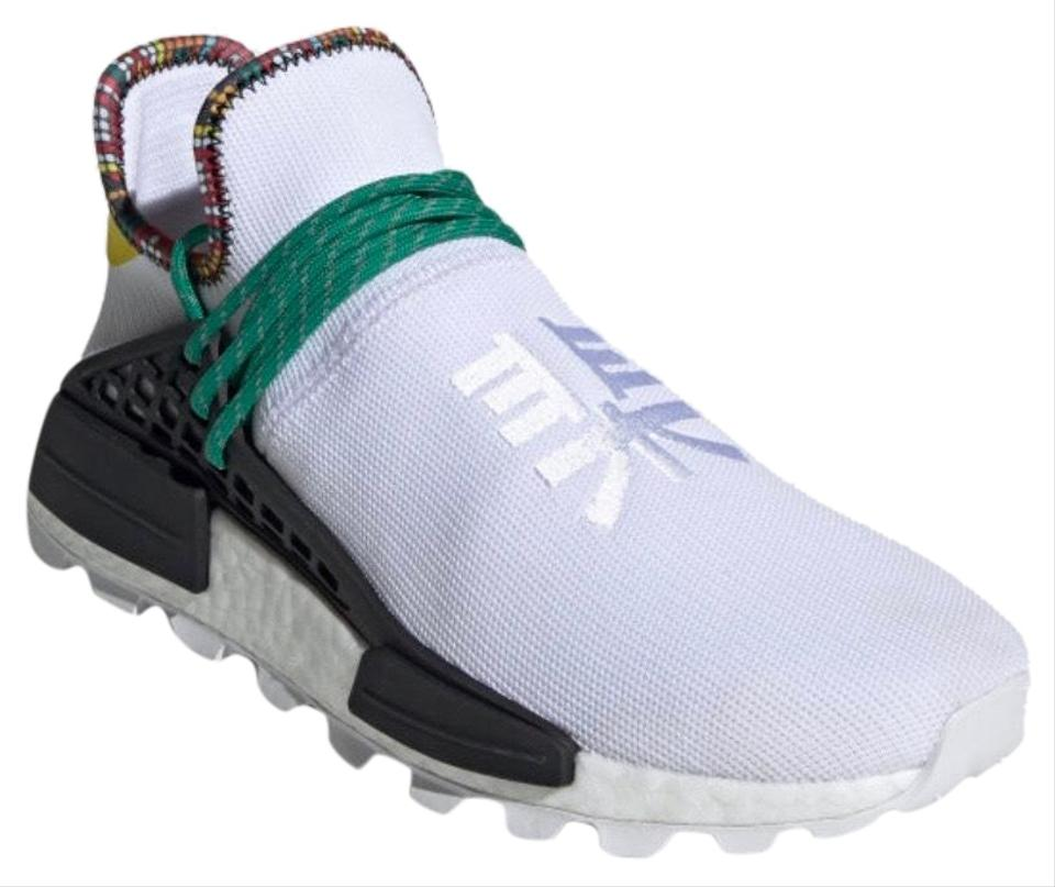 a30fbe082 adidas Originals   Pharrell Williams White Solar Hu Nmd Sneakers ...
