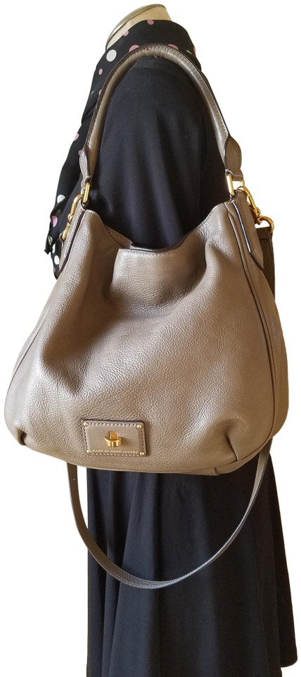 0df78ba4d719 Marc by Marc Jacobs Crossbody Puma Taupe Leather Hobo Bag 38% off retail