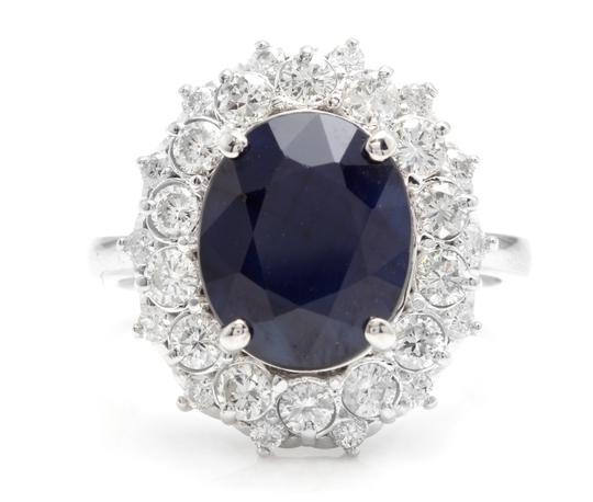 Preload https://img-static.tradesy.com/item/25021515/white-gold-880ct-natural-blue-sapphire-and-diamond-14k-ring-0-0-540-540.jpg