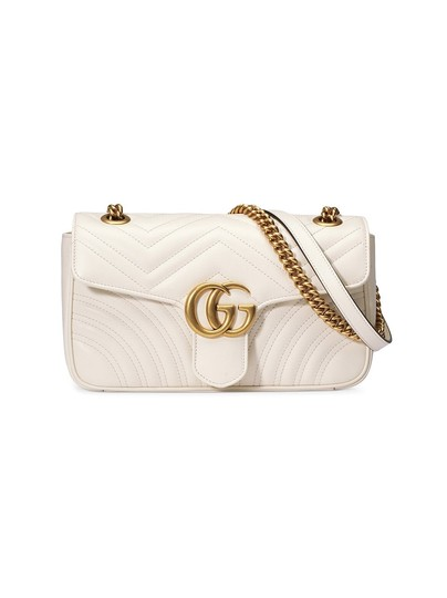 7f4975457daf Gucci Marmont New Small Matelasse White Leather Shoulder Bag - Tradesy
