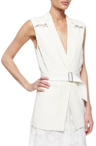 Rebecca Taylor Chic Lace Date Night Belted Vest