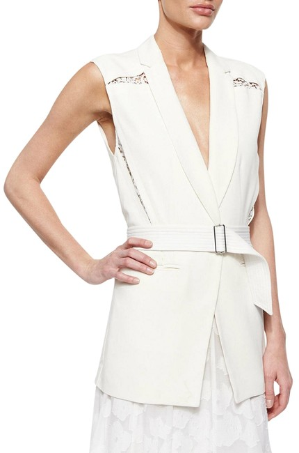 Preload https://img-static.tradesy.com/item/25021624/rebecca-taylor-cream-lace-inset-belted-suiting-vest-size-4-s-0-2-650-650.jpg