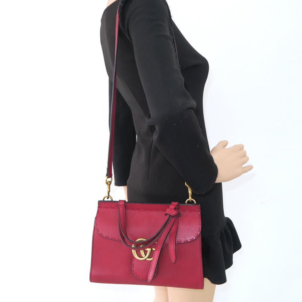 76ecb900ef72 Gucci Marmont Mini Top Handle Satchel in Red Image 11. 123456789101112